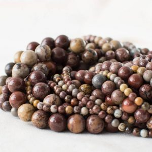 "Shop Red Jasper Beads! High Quality Grade A Natural Artistic Jasper (red) Semi-precious Gemstone Round Beads – 4mm, 6mm, 8mm, 10mm sizes – 15.5"" strand 