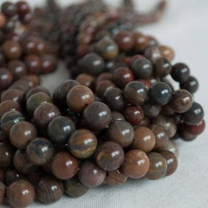 "Shop Red Jasper Beads! High Quality Grade A Natural Wealth Stone Jasper Semi-precious Gemstone Round Beads – 8mm, 10mm sizes – Approx 16"" strand 