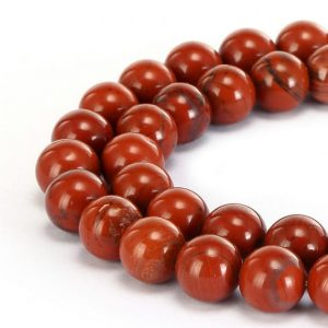 "Shop Jasper Beads! Natural Red Poppy Jasper Smooth Round Size 4mm 6mm 8mm 10mm 12mm 15.5"" Strand 