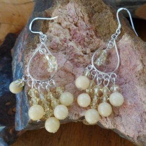 Shop Aragonite Earrings! Jonquil Yellow Earrings | Natural genuine Aragonite earrings. Buy crystal jewelry, handmade handcrafted artisan jewelry for women.  Unique handmade gift ideas. #jewelry #beadedearrings #beadedjewelry #gift #shopping #handmadejewelry #fashion #style #product #earrings #affiliate #ad