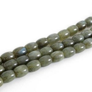 Shop Labradorite Bead Shapes! 10x8mm Labradorite Beads, Barrel Shaped, Labradorite Barrel Beads, Genuine Gemstone Beads, Quarter Strand, 4 Inch Strand Labradorite, Lab204 | Natural genuine other-shape Labradorite beads for beading and jewelry making.  #jewelry #beads #beadedjewelry #diyjewelry #jewelrymaking #beadstore #beading #affiliate #ad