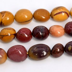 "8-10mm Multicolor Mookaite Beads Pebble Nugget Grade Aaa Genuine Natural Gemstone Loose Beads 15.5"" / 7.5"" Bulk Lot Options (108538) 