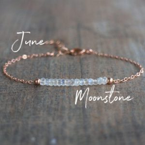 Moonstone Bracelet, Gemstone Bracelet, June Birthstone Bracelet, Girlfriend Gift For Her, Rainbow Moonstone Jewelry, Dainty Boho Bracelet | Natural genuine Moonstone bracelets. Buy crystal jewelry, handmade handcrafted artisan jewelry for women.  Unique handmade gift ideas. #jewelry #beadedbracelets #beadedjewelry #gift #shopping #handmadejewelry #fashion #style #product #bracelets #affiliate #ad