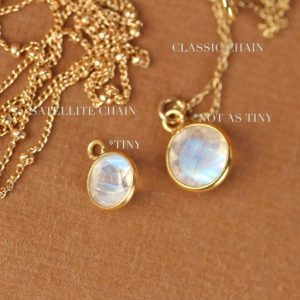 Shop Moonstone Necklaces! Moonstone Necklace – Gold Moonstone – June Birthstone – Tiny Moonstone – A 22k Gold Bezel Set Faceted Moonstone On A 14k Gold Vermeil Chain | Natural genuine Moonstone necklaces. Buy crystal jewelry, handmade handcrafted artisan jewelry for women.  Unique handmade gift ideas. #jewelry #beadednecklaces #beadedjewelry #gift #shopping #handmadejewelry #fashion #style #product #necklaces #affiliate #ad