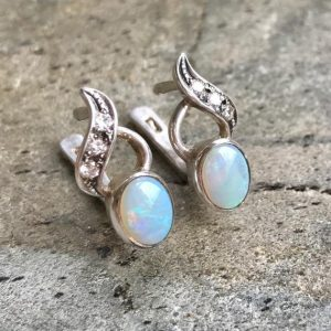 Shop Opal Earrings! Opal Earrings, Australian Opal, Natural Opal, Real Opal Earrings, Fire Opal Earrings, Blue Fire Opal, Vintage Opal, Solid Silver, Opal | Natural genuine Opal earrings. Buy crystal jewelry, handmade handcrafted artisan jewelry for women.  Unique handmade gift ideas. #jewelry #beadedearrings #beadedjewelry #gift #shopping #handmadejewelry #fashion #style #product #earrings #affiliate #ad
