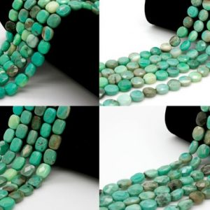 Shop Opal Faceted Beads! Natural Green Moss Opal Faceted Flat (round, Square, Rectangle, Oval) Natural Gemstone Loose Beads | Natural genuine faceted Opal beads for beading and jewelry making.  #jewelry #beads #beadedjewelry #diyjewelry #jewelrymaking #beadstore #beading #affiliate #ad