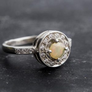 Shop Opal Rings! Fire Opal Ring, Ethiopian Opal, Victorian Opal Ring, Genuine Opal, Ethiopian Opal Ring, Vintage Opal Ring, October Birthstone, Silver Ring | Natural genuine Opal rings, simple unique handcrafted gemstone rings. #rings #jewelry #shopping #gift #handmade #fashion #style #affiliate #ad