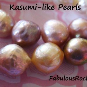 KASUMI Pearls Ming Pearls Edison Pearl, 10.5-11 mm Lilac Peach Fresh Water Round AAA Nucleated Wrinkled Surface FreshWater Culture Pearl | Natural genuine beads Gemstone beads for beading and jewelry making.  #jewelry #beads #beadedjewelry #diyjewelry #jewelrymaking #beadstore #beading #affiliate #ad