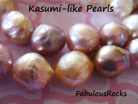 Kasumi Pearls Ming Pearls Edison Pearl / 10.5-11 Mm Baroque Round Aaa Nucleated Wrinkled Ripple Surface Freshwater Culture Pearl Solo T Fp
