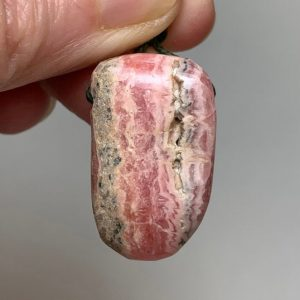 "Shop Rhodochrosite Shapes! 1.1"" RHODOCHROSITE PENDANT – Drilled – Tumbled – Freeform – Natural Crystal – Healing Crystal- Meditation Stone- Jewelry Gift- From Peru 9g 