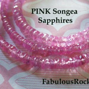 Shop Sapphire Faceted Beads! 5-100 Pcs / Pink Sapphire, Songea Sapphire Rondelles Sapphire Beads / Luxe Aaa, 2.5-3.0 Mm Faceted Bead / September Birthstone Tr S Solo 30 | Natural genuine faceted Sapphire beads for beading and jewelry making.  #jewelry #beads #beadedjewelry #diyjewelry #jewelrymaking #beadstore #beading #affiliate #ad