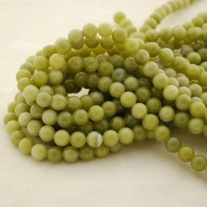 "Shop Serpentine Round Beads! High Quality Grade A Natural Serpentine Jade Semi-precious Gemstone Round Beads – 6mm, 8mm, 10mm Sizes – 15.5"" Strand 