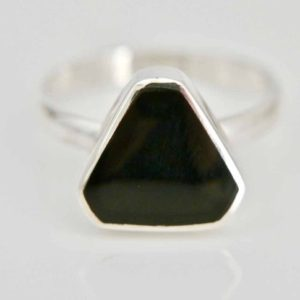 Shop Jet Rings! Whitby Jet Ring – Womens Ring – Handmade – Sterling Silver – Gemstone ring | Natural genuine Jet rings, simple unique handcrafted gemstone rings. #rings #jewelry #shopping #gift #handmade #fashion #style #affiliate #ad