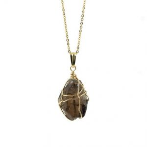 Shop Smoky Quartz Necklaces! Smoky Quartz Necklace on 14K Gold Filled Chain – Large Semi-Transparent Quartz – Wire Wrapped Rough Gemstone Jewelry | Natural genuine Smoky Quartz necklaces. Buy crystal jewelry, handmade handcrafted artisan jewelry for women.  Unique handmade gift ideas. #jewelry #beadednecklaces #beadedjewelry #gift #shopping #handmadejewelry #fashion #style #product #necklaces #affiliate #ad
