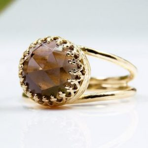 Shop Smoky Quartz Rings! Smoky Quartz Ring, gold Gemstone Ring, gift Ring, birthday Gift, girlfriend Gift, unique Gifts, stone Ring, 14k Gold Ring | Natural genuine Smoky Quartz rings, simple unique handcrafted gemstone rings. #rings #jewelry #shopping #gift #handmade #fashion #style #affiliate #ad