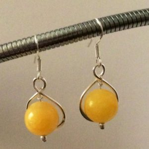 Shop Aragonite Earrings! Sterling Silver Yellow Aragonite Drop Earrings. | Natural genuine Aragonite earrings. Buy crystal jewelry, handmade handcrafted artisan jewelry for women.  Unique handmade gift ideas. #jewelry #beadedearrings #beadedjewelry #gift #shopping #handmadejewelry #fashion #style #product #earrings #affiliate #ad