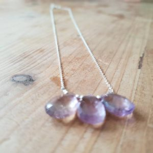Shop Ametrine Necklaces! Stunning triple Ametrine necklace – sterling silver – pendant necklace – semi precious – gift for her – handmade jewellery | Natural genuine Ametrine necklaces. Buy crystal jewelry, handmade handcrafted artisan jewelry for women.  Unique handmade gift ideas. #jewelry #beadednecklaces #beadedjewelry #gift #shopping #handmadejewelry #fashion #style #product #necklaces #affiliate #ad