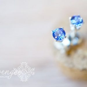 Shop Tanzanite Jewelry! Nova – 3mm Tanzanite Earrings. Gemstone Studs. Tiny Gem Stud. Gold Or Silver | Natural genuine Tanzanite jewelry. Buy crystal jewelry, handmade handcrafted artisan jewelry for women.  Unique handmade gift ideas. #jewelry #beadedjewelry #beadedjewelry #gift #shopping #handmadejewelry #fashion #style #product #jewelry #affiliate #ad