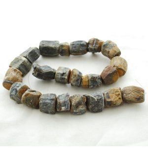 "Shop Tiger Eye Chip & Nugget Beads! Raw Natural Blue Tiger Eye Semi-precious Gemstone Chunky Nugget Beads – approx 13mm – 15mm x 18mm – 22mm – approx 15"" strand 