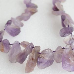 Shop Ametrine Beads! Top Drilled Hand Cut Raw Ametrine Rock Slab Beads 16 Inch Strand | Natural genuine beads Ametrine beads for beading and jewelry making.  #jewelry #beads #beadedjewelry #diyjewelry #jewelrymaking #beadstore #beading #affiliate #ad