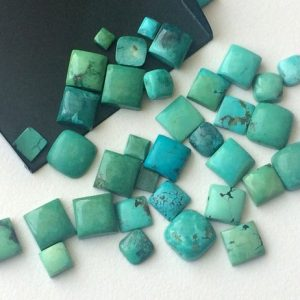 Shop Turquoise Stones & Crystals! 7-9mm Tibetan Turquoise Plain Cabochons, Original Smooth Square Turquoise Flat Back, Natural Loose Turquoise For Jewelry – KS3246 | Natural genuine stones & crystals in various shapes & sizes. Buy raw cut, tumbled, or polished gemstones for making jewelry or crystal healing energy vibration raising reiki stones. #crystals #gemstones #crystalhealing #crystalsandgemstones #energyhealing #affiliate #ad