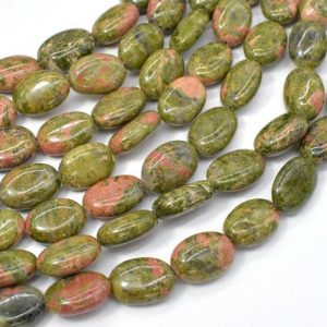 Shop Unakite Bead Shapes! Unakite Beads, 10x14mm Oval Beads, 15 Inch, Full Strand, Approx 27 Beads, Hole 1mm (429030005) | Natural genuine other-shape Unakite beads for beading and jewelry making.  #jewelry #beads #beadedjewelry #diyjewelry #jewelrymaking #beadstore #beading #affiliate #ad