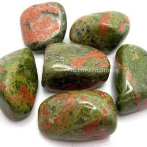 Shop Tumbled Unakite Crystals & Pocket Stones! Unakite Large Tumbled Stone One Rock Hound Crystal Healing, Stones, Reiki, Feng Shui, Pocket Stones | Natural genuine stones & crystals in various shapes & sizes. Buy raw cut, tumbled, or polished gemstones for making jewelry or crystal healing energy vibration raising reiki stones. #crystals #gemstones #crystalhealing #crystalsandgemstones #energyhealing #affiliate #ad