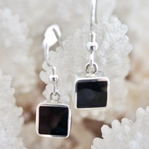 Shop Jet Earrings! Whitby Jet Earrings – Silver Earrings – Drop Earrings – Sterling Silver – Handmade – Gemstone – Whitby Jet | Natural genuine Jet earrings. Buy crystal jewelry, handmade handcrafted artisan jewelry for women.  Unique handmade gift ideas. #jewelry #beadedearrings #beadedjewelry #gift #shopping #handmadejewelry #fashion #style #product #earrings #affiliate #ad