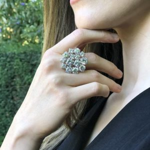 Shop Zircon Rings! Cocktail Ring, Diamond Ring, Created Diamond Ring, Statement Ring, Flower Ring, Sparkly Ring, White Ring, Solid Silver Ring, Zircon Ring   Natural genuine Zircon rings, simple unique handcrafted gemstone rings. #rings #jewelry #shopping #gift #handmade #fashion #style #affiliate #ad