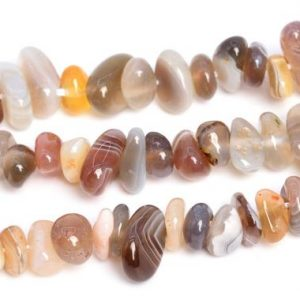 "Shop Agate Chip & Nugget Beads! 4-10mm Multicolor Botswana Agate Beads Pebble Chips Grade Aaa Genuine Natural Gemstone Beads 16"" / 7.5"" Bulk Lot Options (108405) 