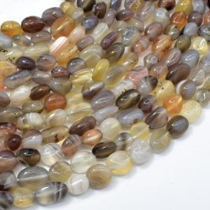 Shop Agate Chip & Nugget Beads! Botswana Agate, 6x8mm Nugget Beads, 15.5 Inch, Full Strand, Approx 48-54 Beads, Hole 1mm (167047002) | Natural genuine chip Agate beads for beading and jewelry making.  #jewelry #beads #beadedjewelry #diyjewelry #jewelrymaking #beadstore #beading #affiliate #ad