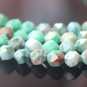 Shop Agate Chip & Nugget Beads! Dyed Green Crazy Lace Agate Faceted Star Cut Nugget Beads, 6mm / 8mm / 10mm / 12mm Faceted Dyed Green Crazy Lace Agate Beads, 15 Inches One Starand | Natural genuine chip Agate beads for beading and jewelry making.  #jewelry #beads #beadedjewelry #diyjewelry #jewelrymaking #beadstore #beading #affiliate #ad