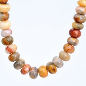 Shop Agate Rondelle Beads! 92 / 44 Pcs – 6x4MM Orange Cream Crazy Lace Agate Beads Grade AAA Genuine Natural Rondelle Gemstone Loose Beads (106971) | Natural genuine rondelle Agate beads for beading and jewelry making.  #jewelry #beads #beadedjewelry #diyjewelry #jewelrymaking #beadstore #beading #affiliate #ad