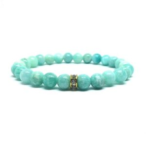 Shop Amazonite Bracelets! Amazonite bracelet – dainty bracelet | Natural genuine Amazonite bracelets. Buy crystal jewelry, handmade handcrafted artisan jewelry for women.  Unique handmade gift ideas. #jewelry #beadedbracelets #beadedjewelry #gift #shopping #handmadejewelry #fashion #style #product #bracelets #affiliate #ad