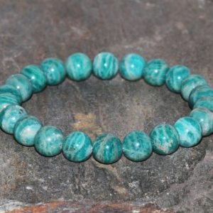 Shop Amazonite Bracelets! Russian Amazonite Bracelet Handmade 8mm Green Russian Amazonite Beaded Gemstone Bracelet Green Bracelet Stacking Bracelet Gift Bracelet | Natural genuine Amazonite bracelets. Buy crystal jewelry, handmade handcrafted artisan jewelry for women.  Unique handmade gift ideas. #jewelry #beadedbracelets #beadedjewelry #gift #shopping #handmadejewelry #fashion #style #product #bracelets #affiliate #ad