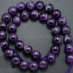 Natural Amethyst Beads, Purple Wholesale Gemstone beads, Stone Beads, Spacer Beads, Round Natural Beads 2mm 3mm 4mm 6mm 8mm 10mm 12 mm | Natural genuine beads Gemstone beads for beading and jewelry making.  #jewelry #beads #beadedjewelry #diyjewelry #jewelrymaking #beadstore #beading #affiliate #ad