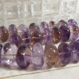 Shop Ametrine Rondelle Beads! Ametrine Graduating Smooth Rondelle Beads 16 In. Strand, 19 to 25mm, Statement Beads, 30 Beads, Great For Chunky Jewelry Design | Natural genuine rondelle Ametrine beads for beading and jewelry making.  #jewelry #beads #beadedjewelry #diyjewelry #jewelrymaking #beadstore #beading #affiliate #ad