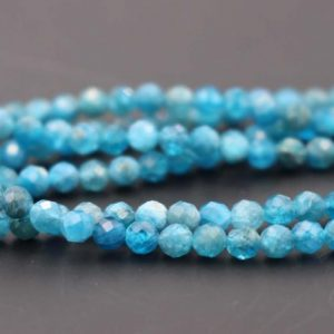 Shop Apatite Faceted Beads! 3mm Natural Blue Apatite Faceted Small Size Beads, 3mm Small Size Beads Wholesale Bulk Supply, 15 Inches One Starand | Natural genuine faceted Apatite beads for beading and jewelry making.  #jewelry #beads #beadedjewelry #diyjewelry #jewelrymaking #beadstore #beading #affiliate #ad