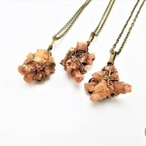 Shop Aragonite Pendants! Aragonite Stone Necklace Wire Wrapped Gemstone Healing Crystal Chakra Metaphysical Aura Jewelry | Natural genuine Aragonite pendants. Buy crystal jewelry, handmade handcrafted artisan jewelry for women.  Unique handmade gift ideas. #jewelry #beadedpendants #beadedjewelry #gift #shopping #handmadejewelry #fashion #style #product #pendants #affiliate #ad