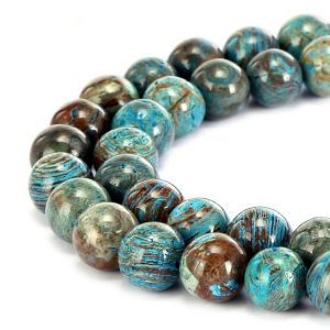 "Shop Blue Lace Agate Beads! Blue Calsilica Jasper Smooth Round Beads 4mm 6mm 8mm 10mm 12mm 15.5"" Strand 