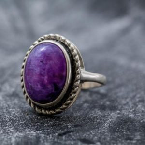 Shop Charoite Jewelry! Statement Ring, Purple Charoite Ring, Charoite Ring, Natural Charoite, Vintage Rings, Scorpio Birthstone, Solid Silver Ring, Charoite | Natural genuine Charoite jewelry. Buy crystal jewelry, handmade handcrafted artisan jewelry for women.  Unique handmade gift ideas. #jewelry #beadedjewelry #beadedjewelry #gift #shopping #handmadejewelry #fashion #style #product #jewelry #affiliate #ad