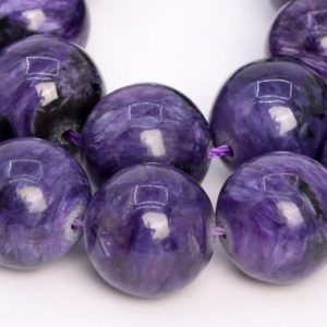 Shop Charoite Round Beads! 15 Pcs – 13MM Deep Color Charoite Beads Russia Grade AA Genuine Natural Round Gemstone Loose Beads (108988) | Natural genuine round Charoite beads for beading and jewelry making.  #jewelry #beads #beadedjewelry #diyjewelry #jewelrymaking #beadstore #beading #affiliate #ad