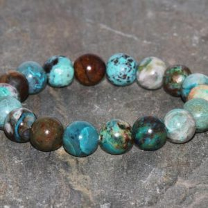 Shop Chrysocolla Jewelry! Chrysocolla Bracelet Grade AAA 10mm South Africa Chrysocolla Genuine Gemstone Bracelet Exquisite Chrysocolla Handmade Bracelet Gift Bracelet | Natural genuine Chrysocolla jewelry. Buy crystal jewelry, handmade handcrafted artisan jewelry for women.  Unique handmade gift ideas. #jewelry #beadedjewelry #beadedjewelry #gift #shopping #handmadejewelry #fashion #style #product #jewelry #affiliate #ad