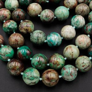 "Shop Chrysocolla Round Beads! Large Natural Chrysocolla 16mm Round Beads Real Genuine Natural Green Blue Chrysocolla From Arizona 15.5"" Strand 