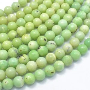 Shop Chrysoprase Beads! Chrysoprase Beads, 7.8mm Round Beads, 15.5 Inch, Full strand, Approx 50-52 beads, Hole 1mm(190054009) | Natural genuine beads Chrysoprase beads for beading and jewelry making.  #jewelry #beads #beadedjewelry #diyjewelry #jewelrymaking #beadstore #beading #affiliate #ad