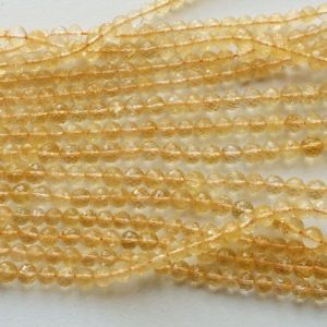 Shop Citrine Faceted Beads! Citrine, Sparkling Golden Orange Citrine Micro Faceted Rondelles, Citrine Necklace, Citrine Round 6-7mm Beads Each, 10 Inch Strand | Natural genuine faceted Citrine beads for beading and jewelry making.  #jewelry #beads #beadedjewelry #diyjewelry #jewelrymaking #beadstore #beading #affiliate #ad