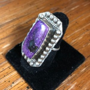 Shop Sugilite Rings! Custom Sterling Silver Sugilite Ring | Natural genuine Sugilite rings, simple unique handcrafted gemstone rings. #rings #jewelry #shopping #gift #handmade #fashion #style #affiliate #ad