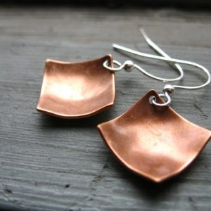 Shop Diamond Earrings! Copper Earrings, Diamond Copper Dome Earrings, Handmade Copper Dangle Drop Earrings, Copper Jewelry | Natural genuine Diamond earrings. Buy crystal jewelry, handmade handcrafted artisan jewelry for women.  Unique handmade gift ideas. #jewelry #beadedearrings #beadedjewelry #gift #shopping #handmadejewelry #fashion #style #product #earrings #affiliate #ad