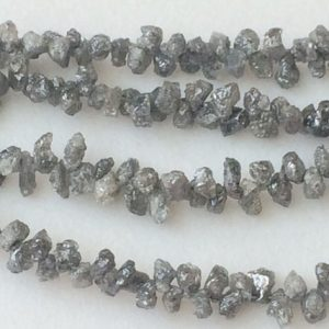 Shop Raw & Rough Diamond Beads! 3.5-4mm Approx Grey Raw Diamond Drops, Natural Uncut Diamond Beads, Rare Rough Diamond Briolettes For Jewelry (4IN To 8IN Options) – DDP20 | Natural genuine beads Diamond beads for beading and jewelry making.  #jewelry #beads #beadedjewelry #diyjewelry #jewelrymaking #beadstore #beading #affiliate #ad
