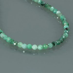 Shop Emerald Necklaces! 1 Strand Necklace Emerald Faceted Beads Necklace Natural faceted cut Emerald stone Necklace Emerald Gemstone Necklace | Natural genuine Emerald necklaces. Buy crystal jewelry, handmade handcrafted artisan jewelry for women.  Unique handmade gift ideas. #jewelry #beadednecklaces #beadedjewelry #gift #shopping #handmadejewelry #fashion #style #product #necklaces #affiliate #ad